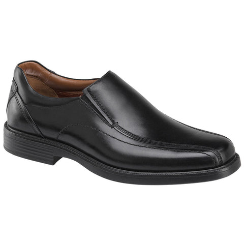 Johnston & Murphy Stanton Run-Off Venetian in Waterproof Black Calfskin at Mar-Lou Shoes