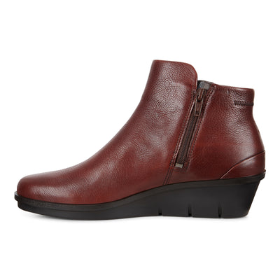 ECCO Women's Skyler Wedge Bootie Cognac | Mar-Lou Shoes