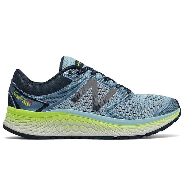 Women's 1080v7 in Ozone Blue/Lime Green