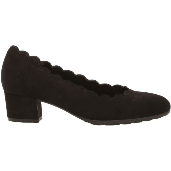 Gabor 32211 Heel in Black Nubuck at Mar-Lou Shoes