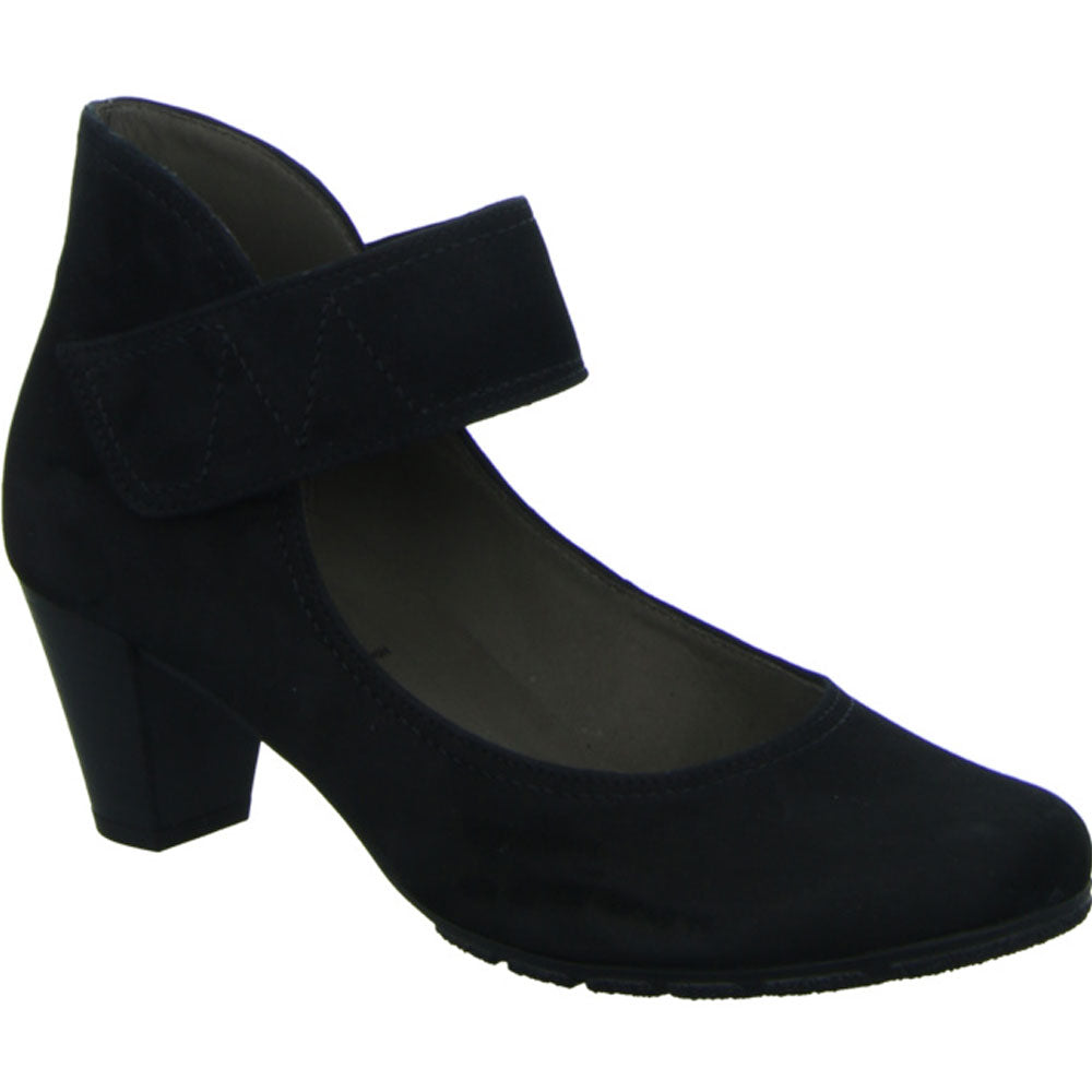 Gabor 7549317 Heel in Black Nubuck at Mar-Lou Shoes