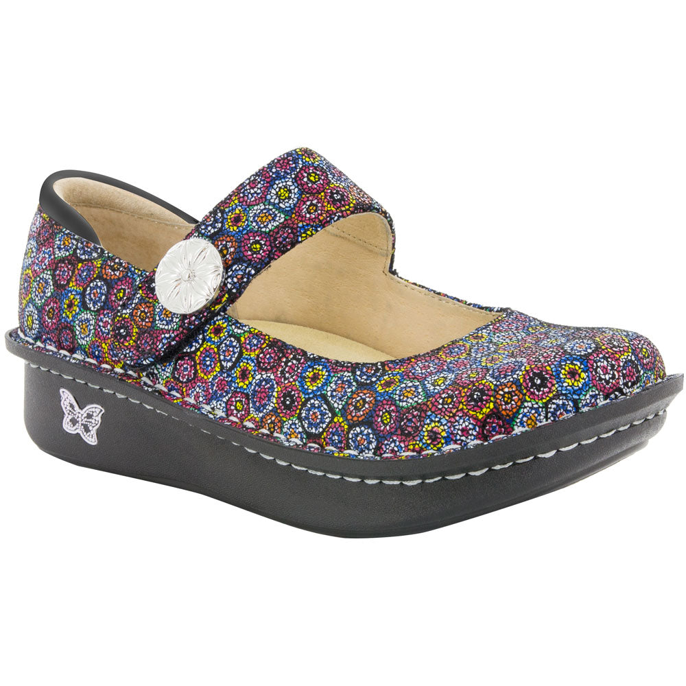 Paloma Mary Jane Wallflower in Multicolored Leather