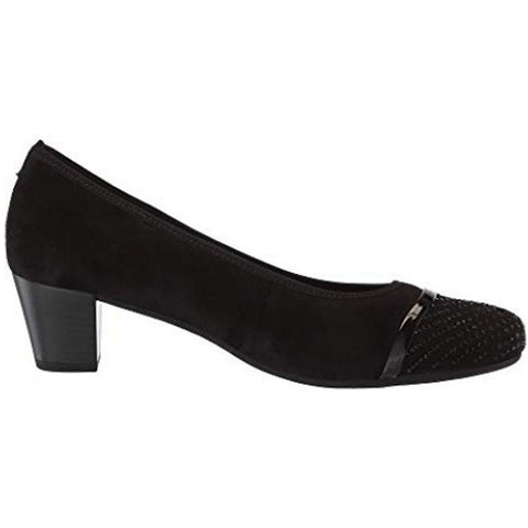 Gabor 96183 Heel in Black Nubuck at Mar-Lou Shoes