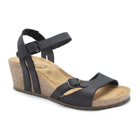 Sabatini Antonia Sandal Crazy Nero at Mar-Lou Shoes