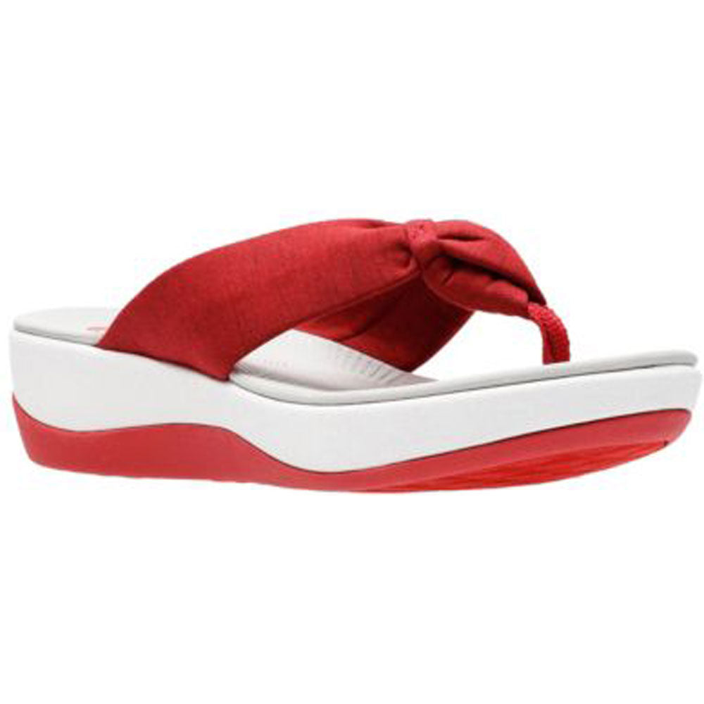Arla Glison Sandal in Red and White