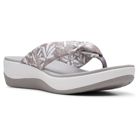 Clarks Arla Glison Sandal in Grey White at Mar-Lou Shoes