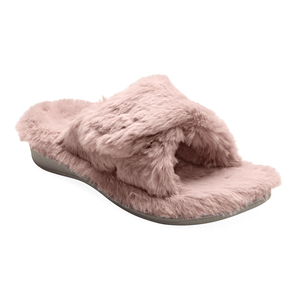 Relax Plush in Blush Faux Fur