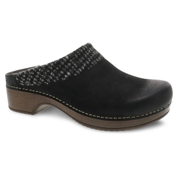Dansko Bev Clog Black Nubuck at Mar-Lou Shoes