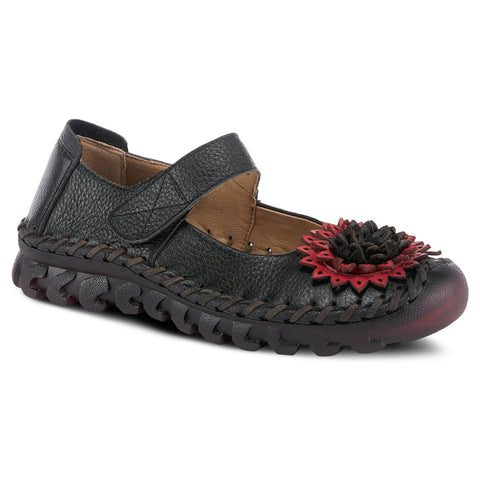Spring Step Women's Hibiscae Mary Jane Black | Mar-Lou Shoes