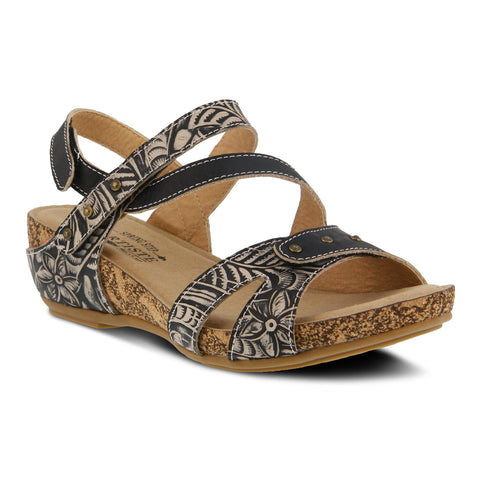 L'Artiste by Spring Step Women's Quilana Sandal Black | Mar-Lou Shoes