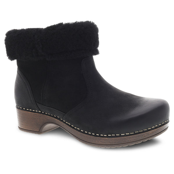 Dansko Bettie Boot Black Nubuck at Mar-Lou Shoes