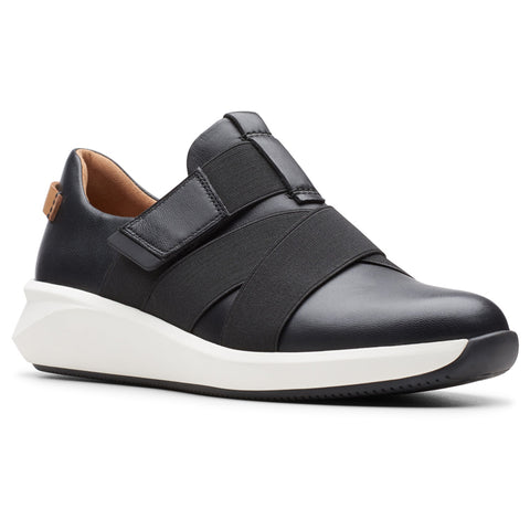 Clarks Un Rio Strap Black Leather at Mar-Lou Shoes