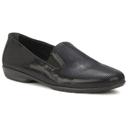 Walking Cradles Women's Florence Slip-On Black Leather | Mar-Lou Shoes