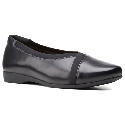 Clarks Un Darcey Ease 2 Black Leather at Mar-Lou Shoes