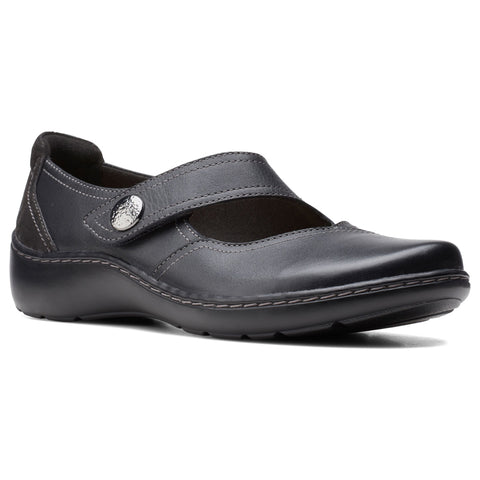 Clarks Cora Dahlia Mary Jane Black Combi at Mar-Lou Shoes