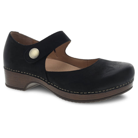 Dansko Beatrice Mary Jane Black Nubuck at Mar-Lou Shoes