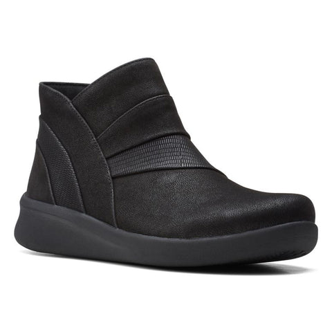 Clarks Sillian 2.0 Rise Bootie Black at Mar-Lou Shoes
