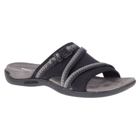 Merrell Women's District Muri Slide Sandal Black/Charcoal | Mar-Lou Shoes