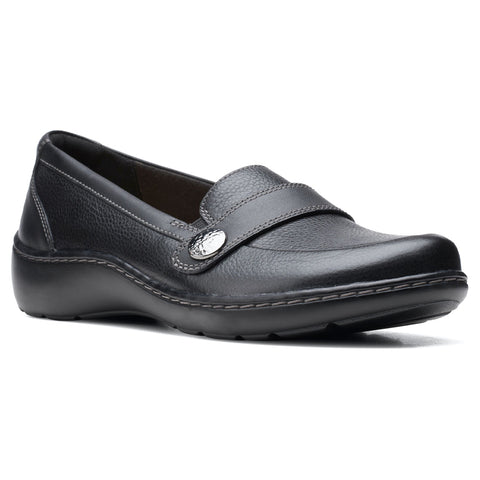 Clarks Women's Cora Daisy Loafer Black | Mar-Lou Shoes