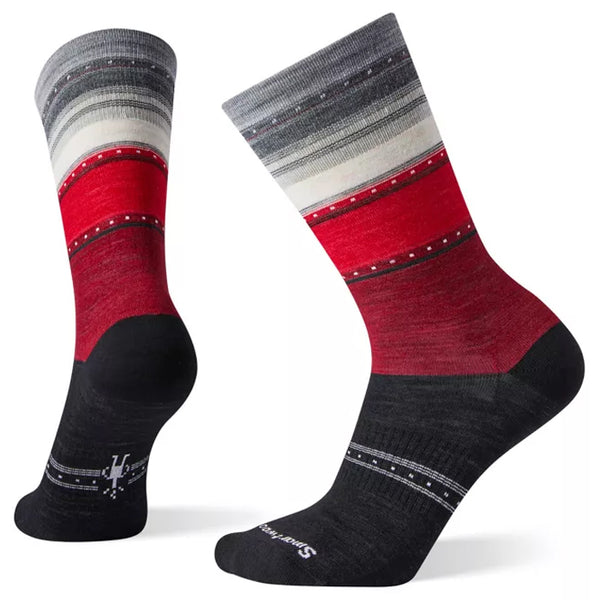 Smartwool Women's Sulawesi Stripe Crew Socks Black | Mar-Lou Shoes