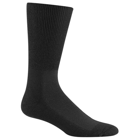Wigwam Unisex Diabetic Strider Socks in Black at Mar-Lou Shoes