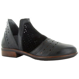 Naot Rivotra Bootie Perforated Black Leather at Mar-Lou Shoes