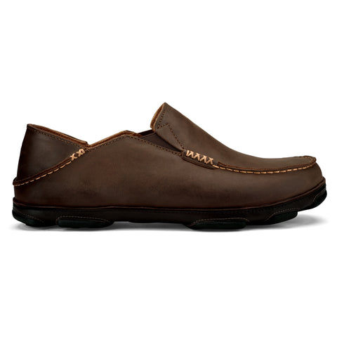 OluKai Men's Moloā Slip-On Dark Wood/Dark Java | Mar-Lou Shoes