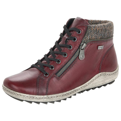 Remonte Women's R1473-35 Liv 73 Bootie Burgundy | Mar-Lou Shoes