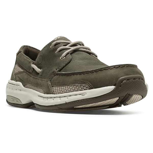 Dunham Captain Boat Shoe Olive Leather at Mar-Lou Shoes