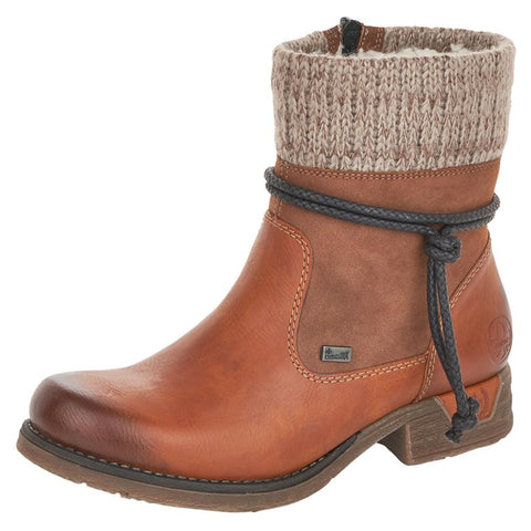 Rieker Women's 79688-24 Cayenne Tex Bootie | Mar-Lou Shoes