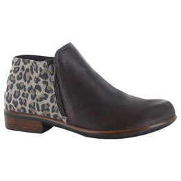 Naot Helm Bootie Cheetah Brown at Mar-Lou Shoes