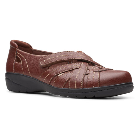 Clarks Cheyn Tulip in Mahogany Leather at Mar-Lou Shoes