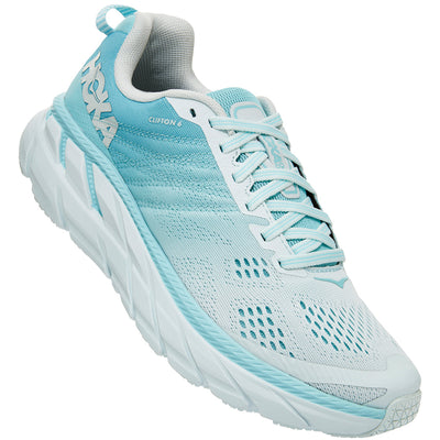 Hoka One One Women's Clifton 6 in Antigua Sand/Wan Blue at Mar-Lou Shoes