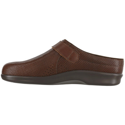 Clog in Brown Woven Leather