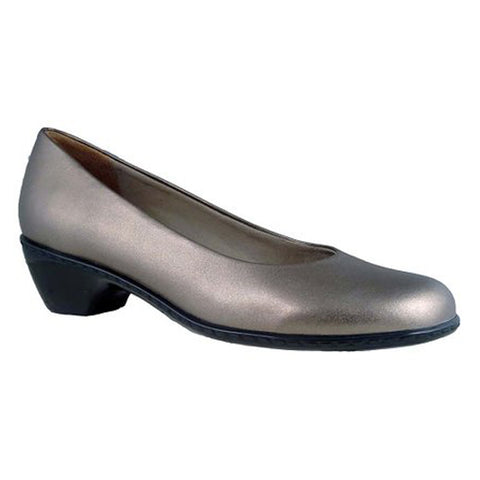 Walking Cradles Craft Heel in Gun Metal Leather at Mar-Lou Shoes