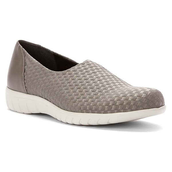 Munro Cruise in Greige Woven at Mar-Lou Shoes