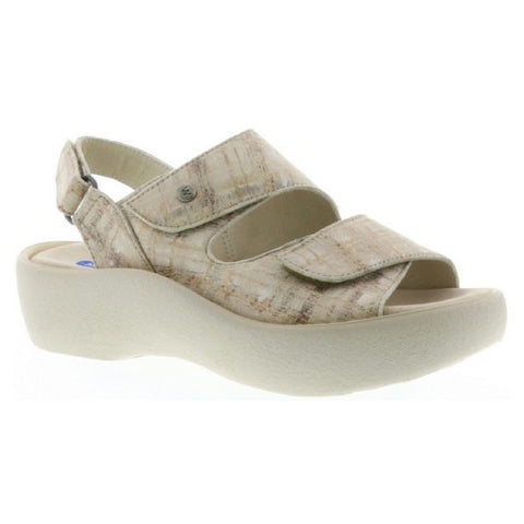 Wolky Dream Sandal in Beige Mondrian at Mar-Lou Shoes