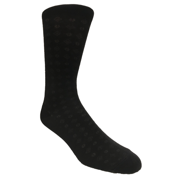 Men's Dress Sock Crew Black