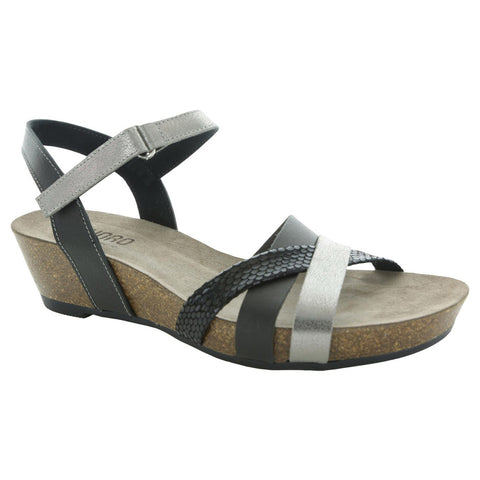 Munro Eden Sandal in Black Multi Leather at Mar-Lou Shoes