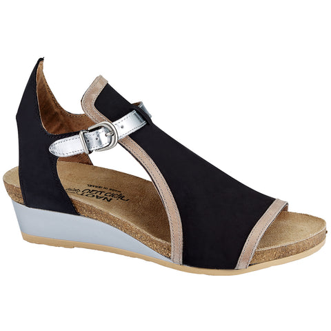 Naot Fiona Sandal in Black Nubuck at Mar-Lou Shoes