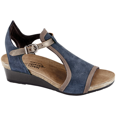 Naot Fiona Sandal in Navy Nubuck at Mar-Lou Shoes