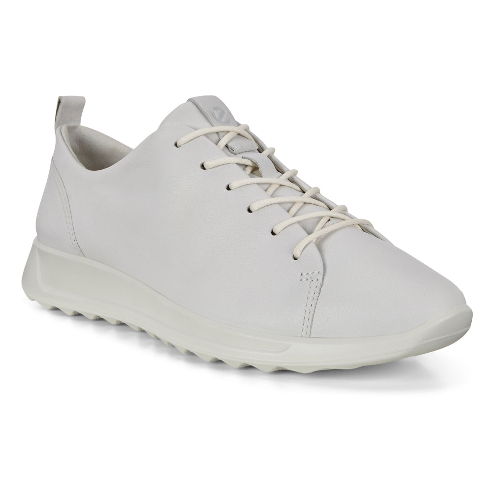 Ecco Women's Flexure Runner White Leather at Mar-Lou Shoes