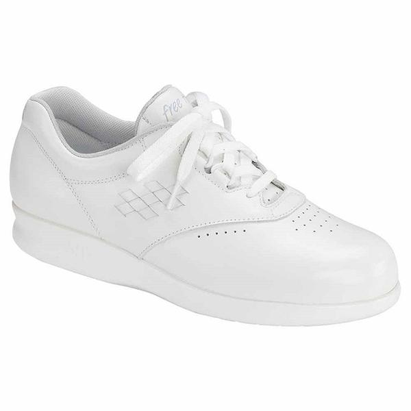 SAS Free Time in White Leather at Mar-Lou Shoes