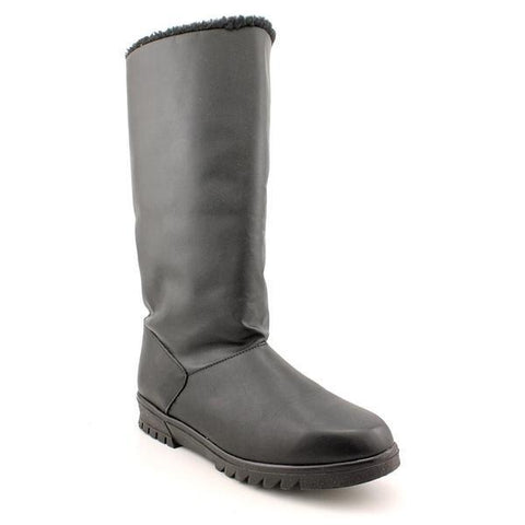 Glacier Boot in Black Leather