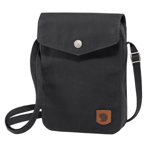 Fjällräven Unisex Greenland Pocket Shoulder Bag Black | Mar-Lou Shoes