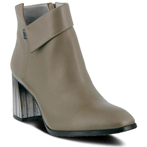 Spring Step Esmae Bootie in Grey Leather at Mar-Lou Shoes
