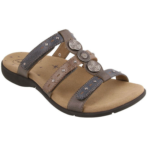 Taos Festive Sandal in Grey Multi Leather at Mar-Lou Shoes