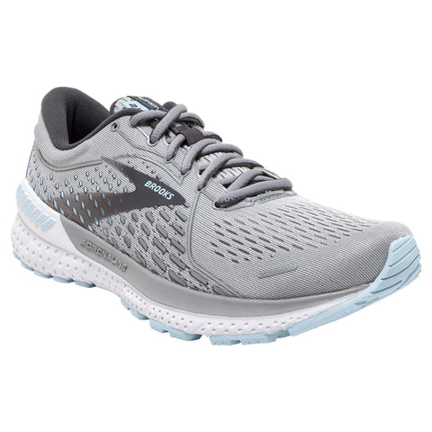 Brooks Women's Adrenaline GTS 21 Oyster/Alloy/Light Blue | Mar-Lou Shoes