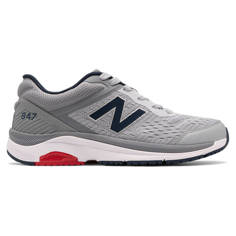 New Balance Men's 847v4 Walking Shoe Silver Mink with Gunmetal at Mar-Lou Shoes