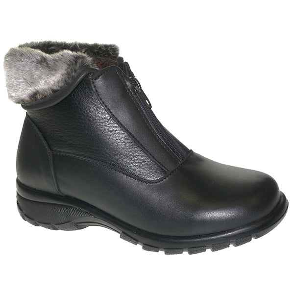 Toe Warmers Haven Waterproof Bootie in Black at Mar-Lou Shoes